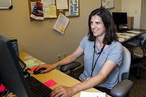 Brooke McClendon, program coordinator of Orwig Laboratory